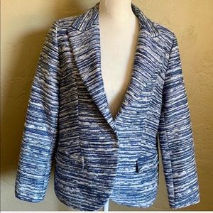 Escada Blue Silk Jacket Size 14